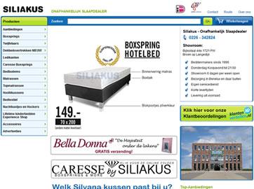 Maatwerk B2C Webshop met Beddenconfigurator