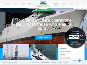 Corporate Website voor Heinen & Hopman Engineering uit Bunschoten