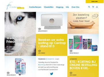 Maatwerk B2B Webshop voor Optiek Groothandel Friederichs uit Heemstede