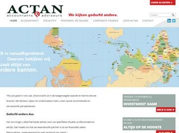 Lead Generation Website voor Actan Accountants & Adviseurs uit Hoofddorp