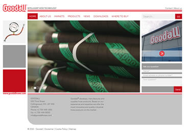 Responsive Corporate Website voor Goodall Hoses