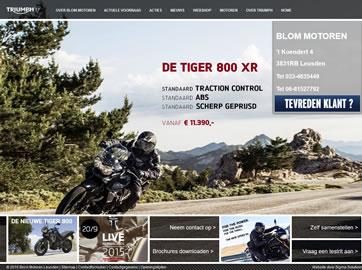 Website Ontwikkeling voor Triumph Motorcycles Benelux uit Alkmaar