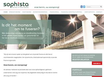 Website Ontwikkeling voor Sophista Fusies & Overnames uit Alkmaar